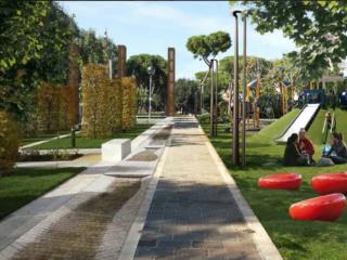 Ladispoli, Giardini Centrali via Ancona - via Odescalchi